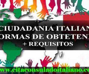 Formas ciudadanía italiana