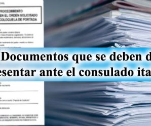 Documentos para el consulado Italiano