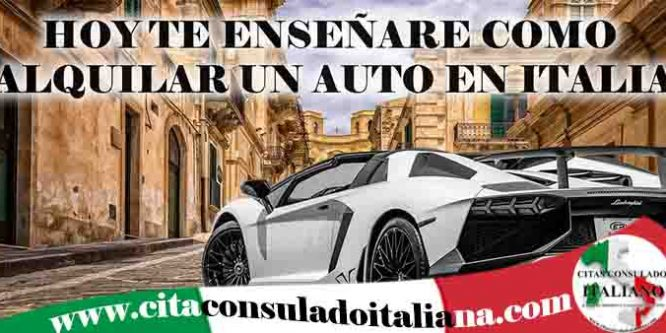 Alquilar auto en Italia