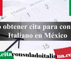 Cita consular Italiana en México