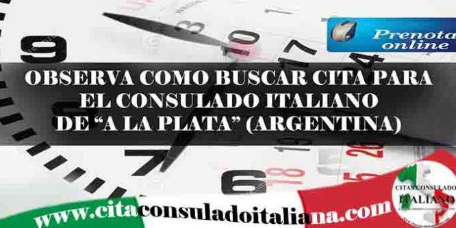 Cita consulado Italiano A la Plata