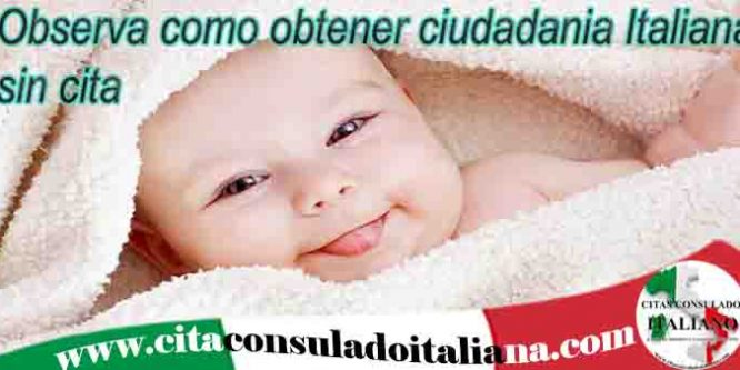 Ciudadanía Italiana sin cita