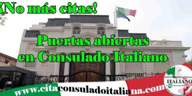 No mas citas! para el Consulado Italiano